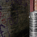 Beer Keggs And Graffiti by D'Arcy Evans