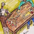 Beer Pong Madness by Geraldine Myszenski