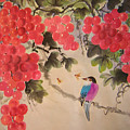Bees And Bird by Lian Zhen