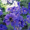 Bees And Flowers by Samuel Pye