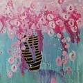 Bees In Pink by Susan Curtin