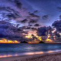 Before The Dawn Lanikai Beach Oahu Hawaii Collection Art by Reid Callaway