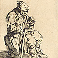 Beggar Eating by Jacques Callot