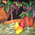 Begonias And Pears by Dorothy Riley