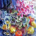 Behind A Dark Blue Curtain by Tatyana Berestov