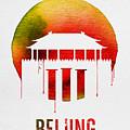 Beijing Landmark Red by Naxart Studio
