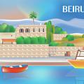 Beirut Lebanon Horizontal Scene by Karen Young