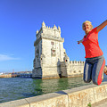 Belem Tower Jumping by Benny Marty