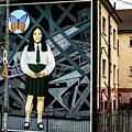 Belfast Mural - Butterfly - Ireland by Jon Berghoff