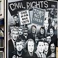 Belfast Mural - Civil Rights - Ireland by Jon Berghoff