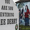 Belfast Mural - Free Derry - Ireland by Jon Berghoff
