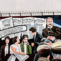 Belfast Mural - Headlines - Ireland by Jon Berghoff