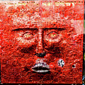 Belfast Wall - Red Face - Ireland by Jon Berghoff