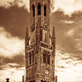 Belfry Tower Of Bruges by Wim Lanclus