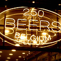 Belgian Beer Sign by Carol Groenen