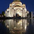 Belgrade Serbia Orthodox Cathedral Of Saint Sava  by Danica Radman