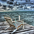 Belize Beach Chair #2 by Jim Wagner