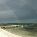 Belize Rainbow And Broken Pier by Jessica Estrada