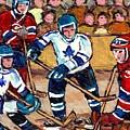 Bell Center Hockey Art Goalie Carey Price Makes A Save Original 6 Teams Habs Vs Leafs Carole Spandau by Carole Spandau