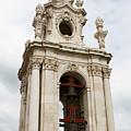 Bell Tower With Red   by Lorraine Devon Wilke