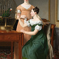 Bella And Hanna. The Eldest Daughters Of M.l. Nathanson by Christoffer Wilhelm Eckersberg