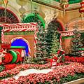 Bellagio Christmas Train Decorations Angled 2017 2 To 1 Aspect Ratio by Aloha Art