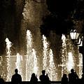Bellagio Fountain At Night by Marilyn Hunt