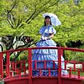 Belle On Red Bridge by Cynthia Guinn