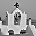 Bells In Oia Bw by Jeremy Hayden
