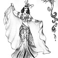 Belly Dancer With Veil. Friend Of Ameynra by Sofia Metal Queen