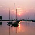 Belmont Harbor Sunrise 1973 by Thomas Firak
