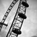 Below London's Eye Bw by Kamil Swiatek
