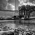 Below The Dam In Black And White by Greg and Chrystal Mimbs