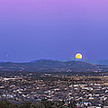 Belt Of Venus And Full Moon Rising by Alan Dyer