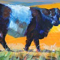 Belted Galloway Cow Side View by Mike Jory