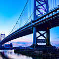 Ben Franklin Bridge by Carol Ward