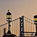Ben Franklin Bridge In Early Morning by Bill Cannon