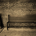 Bench Behind Stop And Shop Sepia 2018 by Frank Romeo