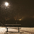 Bench For The Snowflakes by Elena Perelman