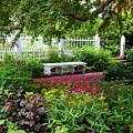 Bench In Prescott Park by Thomas Habif