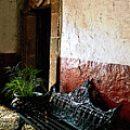 Bench In The Darkened Foyer by Mexicolors Art Photography