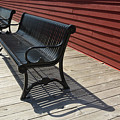 Bench Lines And Shadows 0841 by Steve Somerville