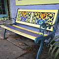 Bench Of Color by David Lee Thompson