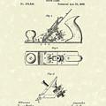 Bench Plane 1883 Patent Art by Prior Art Design