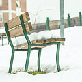 Bench With Snow by Benny Marty