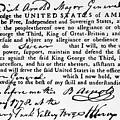Benedict Arnolds Oath Of Allegiance by Everett