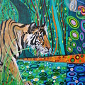 Bengal Tiger And Dragonfly by Mark Betson