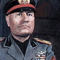 Benito Mussolini Color Portrait Circa 1935 by David Lee Guss