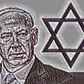 Benjamin Netanyahu With Star Of David by Pd