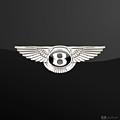 Bentley - 3 D Badge On Black by Serge Averbukh